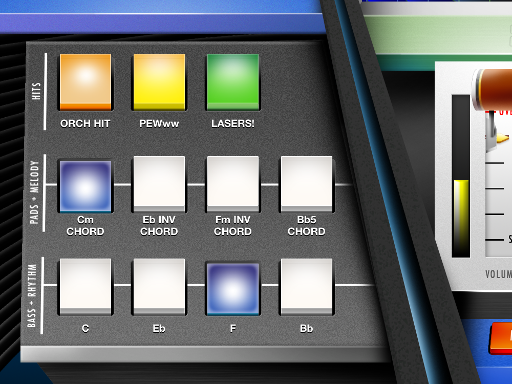The sBASSdrum synthesizer pads