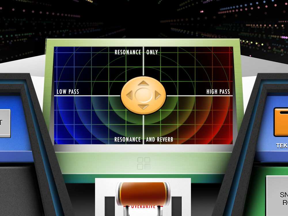The sBASSdrum DJ-style effects X/Y control
